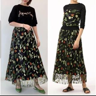 GRACE CONTINENTAL - 20SS 新品 グレースコンチネンタル フルーツ刺繍プリーツスカート