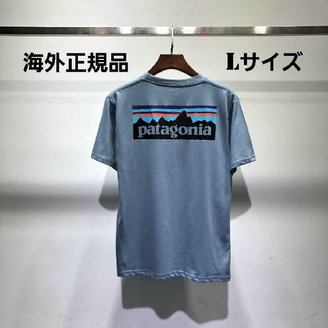 patagonia(パタゴニア)の夏物売り尽くしセール patagonia 半袖Tシャツ ブルー Lサイズ メンズのトップス(Tシャツ/カットソー(半袖/袖なし))の商品写真