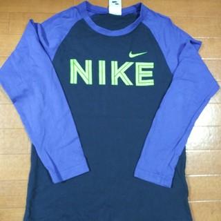 NIKE - ナイキ 長袖tシャツ紺色紫パープル色
