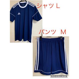 アディダス(adidas)のアディダス トレーニングウェア  [シャツ L ・ハーフパンツ M] セット(ウェア)