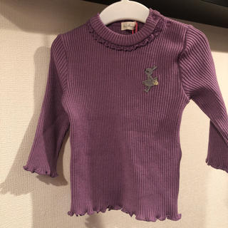 ニットプランナー(KP)の♡最終♡新品♡KP ケーピー トップス  ハイネック ニット フリル 80(Tシャツ)