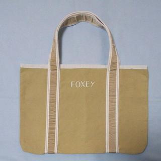 FOXEY - FOXEY 希少ノベルティ ロゴ刺繍 ツートンカラーハンドバッグ