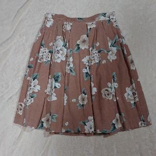 トランテアンソンドゥモード(31 Sons de mode)のトランテアンソンドゥモード スエード花柄スカート(ひざ丈スカート)