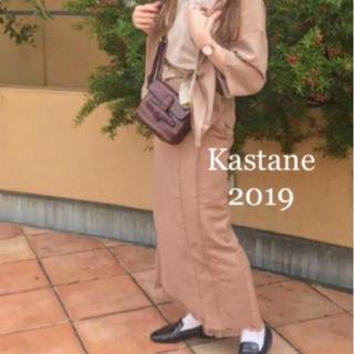カスタネ(Kastane)の切替フリンジスカート(ロングスカート)
