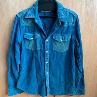 ローズバッド(ROSE BUD)のRose bud コーデュロイシャツ ターコイズ xs(シャツ/ブラウス(長袖/七分))