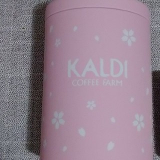 カルディ(KALDI)の桜柄キャニスター缶(容器)