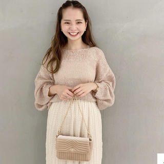 flower - milky mohair touch knit  (ピンク)