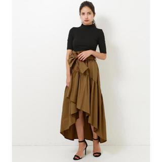 アナップ(ANAP)のANAP ウエストリボンテールカットラップスカート 新品タグ付き(ロングスカート)