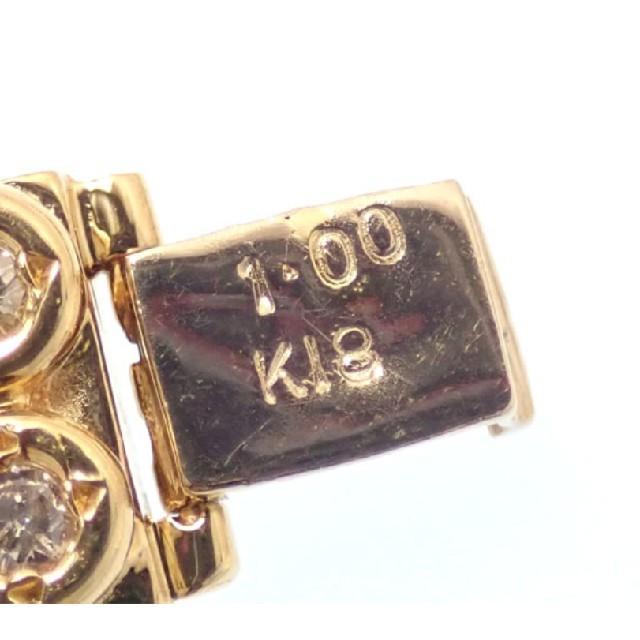k18 ダイヤモンド テニスブレスレット 18k 18金 ブレス 750 レディースのアクセサリー(ブレスレット/バングル)の商品写真