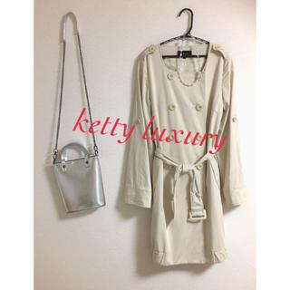 ケティ(ketty)の ketty luxury♡トレンチコート 日本製 ベージュ 2way(トレンチコート)