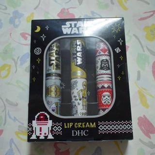 ディーエイチシー(DHC)のDHC 薬用 リップクリーム 3本 スターウォーズ ブラック ディズニー 乾燥に(リップケア/リップクリーム)