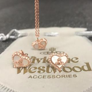 Vivienne Westwood - 新品 ネックレスピアスセット ピンクゴールド