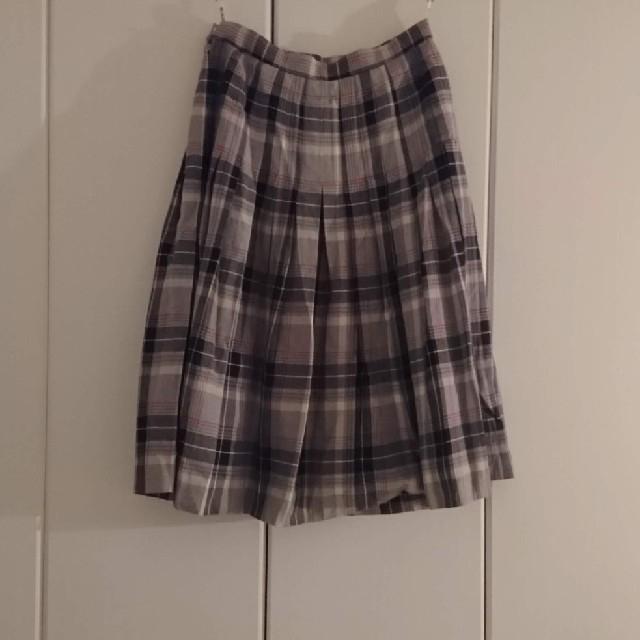 Lochie(ロキエ)のㅤチ ェ ッ ク プリ ー ツ ス カ ー ト レディースのスカート(ひざ丈スカート)の商品写真