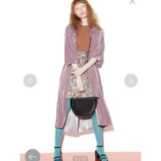 リリーブラウン(Lily Brown)のリリーブラウン ウエストリボン台形スカート(ひざ丈スカート)