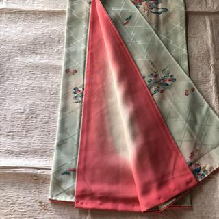 フリフ(ふりふ)の美品 小紋 着物 パステルカラー 袖襦袢付 正絹(着物)