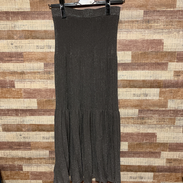 FRAY I.D(フレイアイディー)のフレイ アイディー ソフトラメプリーツニットスカート レディースのスカート(ロングスカート)の商品写真