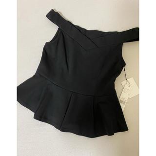 ムルーア(MURUA)のMURUA ペプラムトップス 新品タグ付き(カットソー(半袖/袖なし))