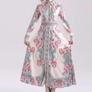 人気急上☆フォーマル マキシ丈 シャツ ドレス ワンピース レディース(ロングドレス)