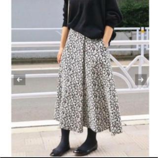 IENA - 【新品未使用】IENA♡フラワージャガードフレアスカート 40