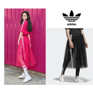 adidas - 新品タグ付き adidas チュールスカート赤