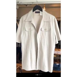 エディットフォールル(EDIT.FOR LULU)のfront open linen linen shirt(シャツ/ブラウス(半袖/袖なし))