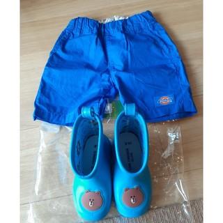 ディッキーズ(Dickies)のDickies短パン(90cm)と長靴(14.0cm)セット(パンツ/スパッツ)