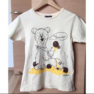 BEAMS BOY - ビームスボーイ♡くまさんTシャツ クリーム色