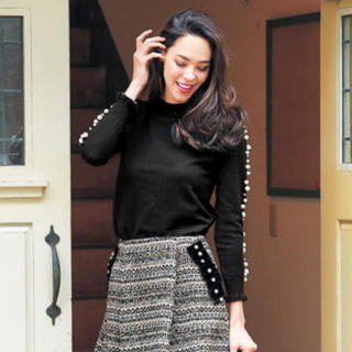 チェスティ(Chesty)のchesty チェスティ Pearl Knit ブラック(ニット/セーター)