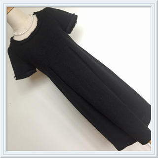 IENA - 未使用 イエナ 繊細なラメツィード タックタイトワンピース 膝丈 黒