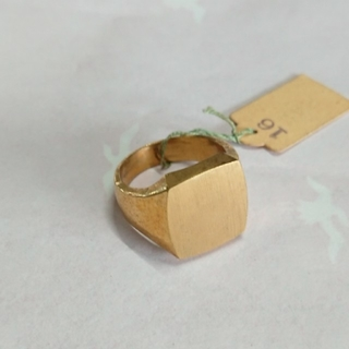 HK18 印台リング 指輪 メンズ用リング ゴールド アクセサリー ビンテージ (リング(指輪))
