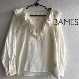 ビームス(BEAMS)のBAMES  コットン長袖ブラウス(シャツ/ブラウス(長袖/七分))