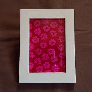 マリメッコ(marimekko)のファブリックフレーム マリメッコピンク花柄(インテリア雑貨)