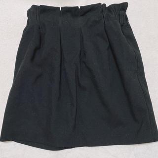 ヘザー(heather)のHeather 台形 コクーンスカート 黒(ミニスカート)