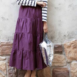 ティティベイト(titivate)のほぼ新品 titivate  コットンティアードスカート(ロングスカート)