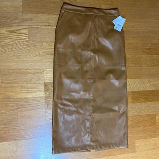 ローリーズファーム(LOWRYS FARM)のレザースカート(ロングスカート)