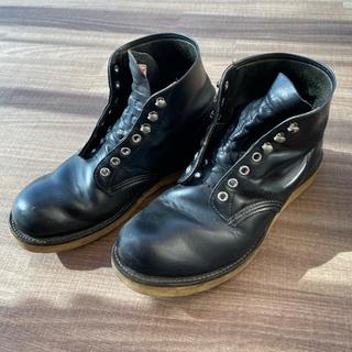 レッドウィング(REDWING)のレッドウィング 黒 plane toe Made in USA(ブーツ)