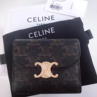 セリーヌ(celine)のCELINE セリーヌ スモール トリオンフウォレット / トリオンフキャンバス(財布)