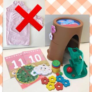 しまじろう ベビー こどもちゃれんじ おもちゃ 0歳 1歳 フード付きタオル(知育玩具)