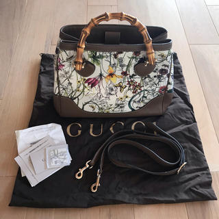 Gucci - GUCCI バンブー フローラ バッグ