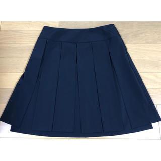 フォクシー(FOXEY)のフォクシー NY パネル スカート ネイビー 2、3回使用(ひざ丈スカート)