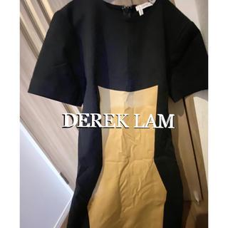ドゥロワー(Drawer)のデレクラム DEREK LAM サイズ0 ワンピース定価15万 ドゥロワー(ひざ丈ワンピース)