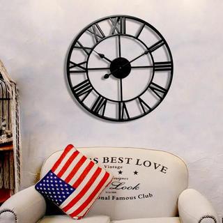 アイアンフレーム壁掛け時計 ブラック(掛時計/柱時計)