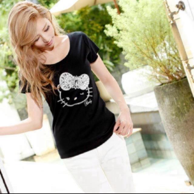 Rady(レディー)の新品♡Rady♡ビジューキティーTシャツ♡ レディースのトップス(Tシャツ(半袖/袖なし))の商品写真