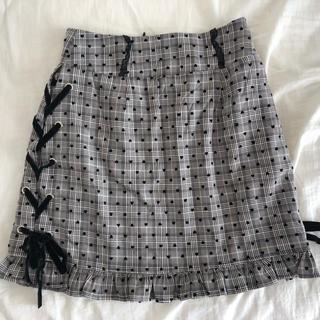 evelyn - ハート柄リボン編み上げスカート