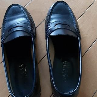 ハルタ(HARUTA)のハルタ ローファー 黒 25.5センチ E(ローファー/革靴)