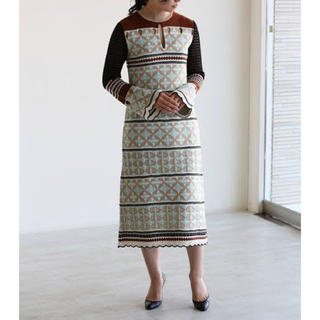 mame - mame ☆ Eyelet Jacquard dress