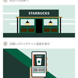 スターバックスコーヒー(Starbucks Coffee)のスタバ チケット 500円(フード/ドリンク券)