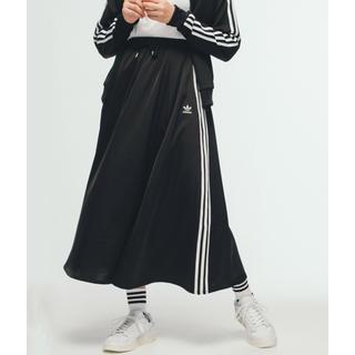 アディダス(adidas)のadidas ロングスカート ブラック Mサイズ(ロングスカート)