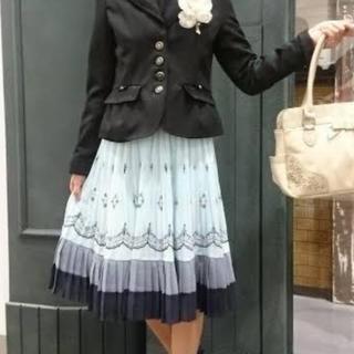 axes femme - アクシーズファム パネル刺繍プリーツ スカート
