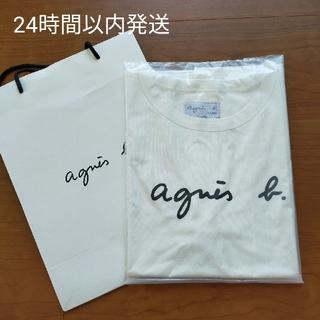 アニエスベー(agnes b.)の【新品】アニエスベー 半袖 Tシャツ ホワイト(Tシャツ(半袖/袖なし))